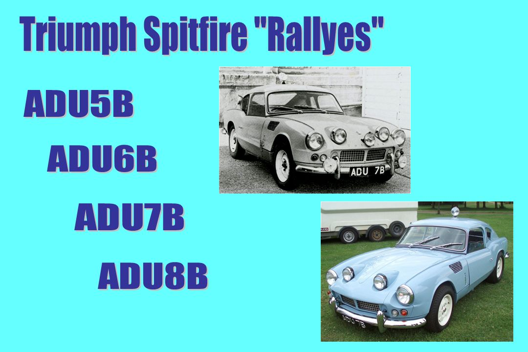 Triumph Spitfire Rallyes