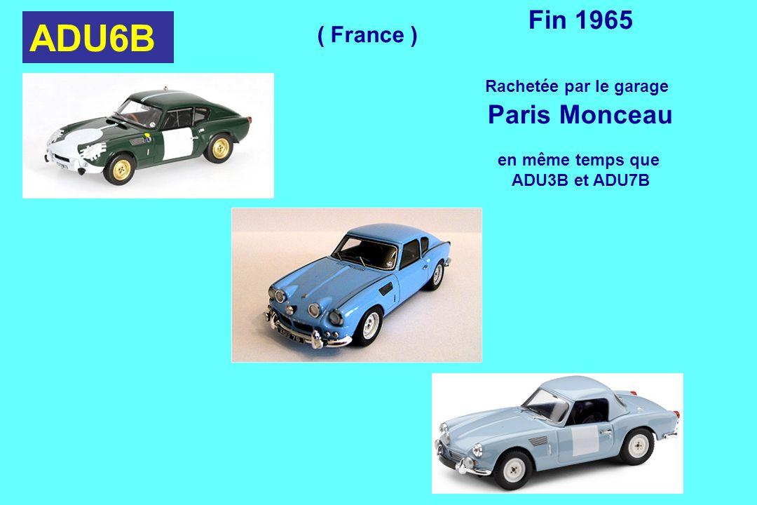 ADU6B Fin 1965 Paris Monceau ( France ) Rachetée par le garage