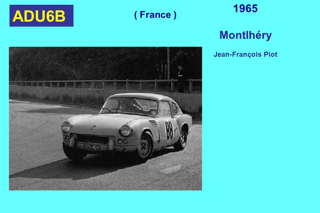 1965 Montlhéry Jean-François Piot ADU6B ( France )