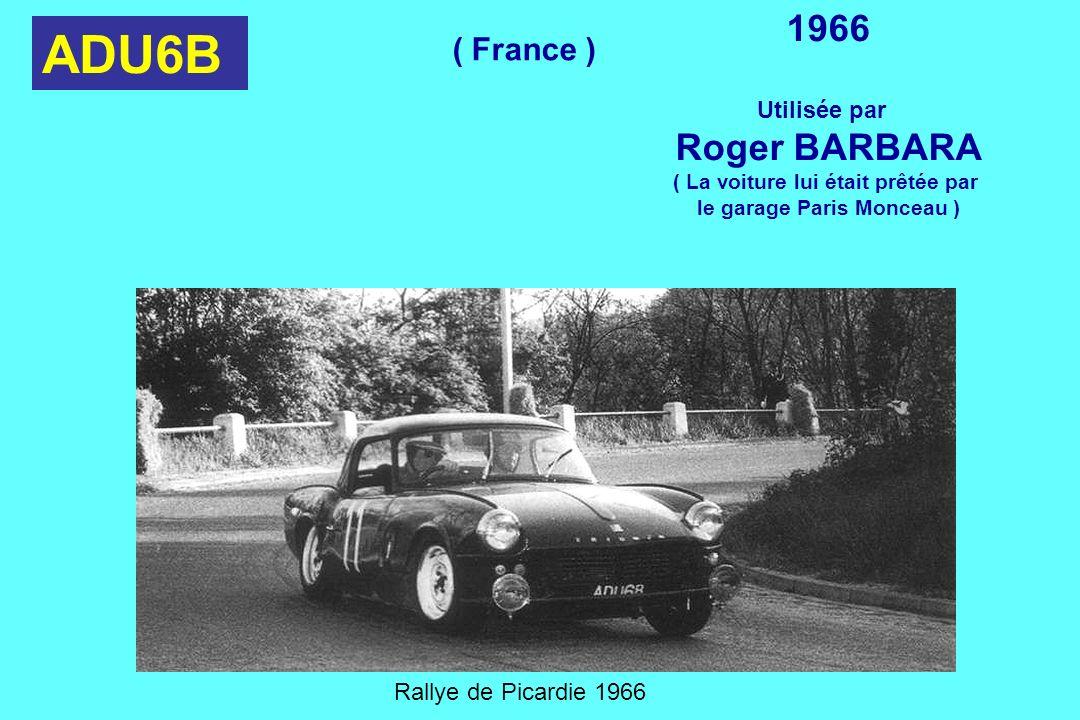 ( La voiture lui était prêtée par le garage Paris Monceau )