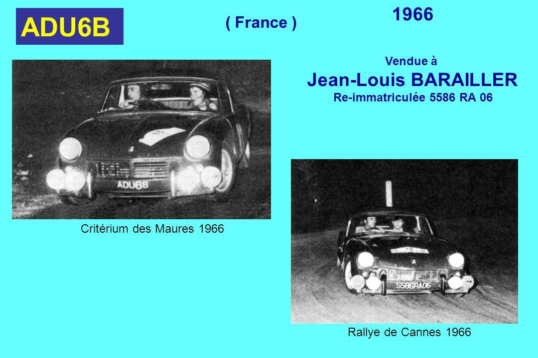 ADU6B 1966 Jean-Louis BARAILLER ( France ) Vendue à