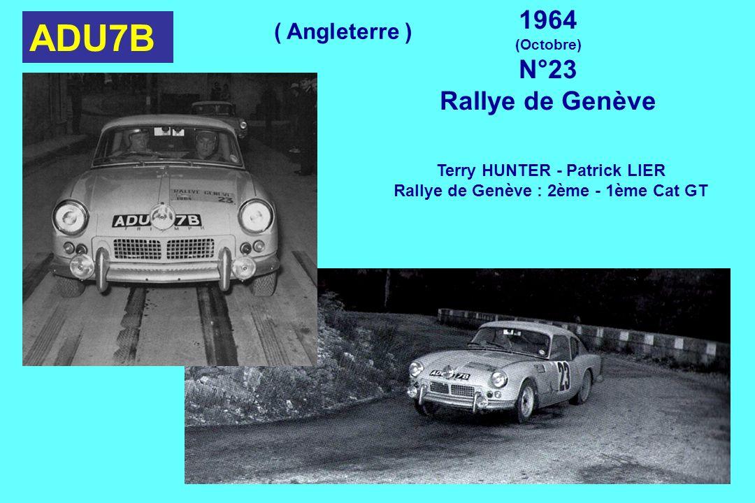 Terry HUNTER - Patrick LIER Rallye de Genève : 2ème - 1ème Cat GT