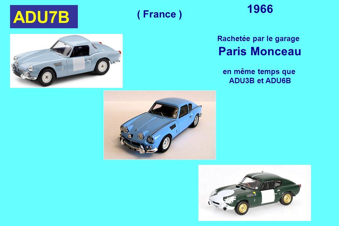 ADU7B 1966 Paris Monceau ( France ) Rachetée par le garage