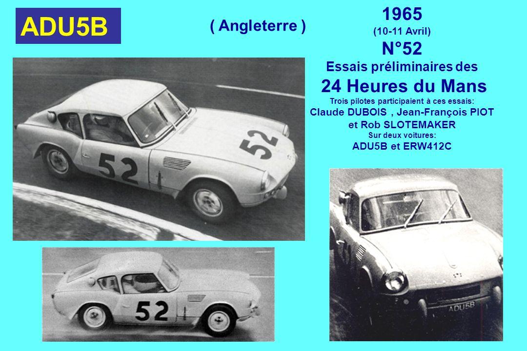 ADU5B 1965 N°52 24 Heures du Mans ( Angleterre )