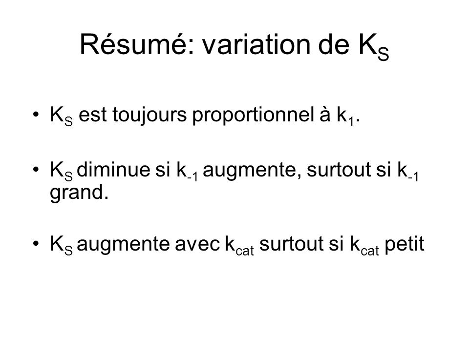 Résumé: variation de KS