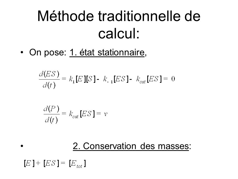 Méthode traditionnelle de calcul: