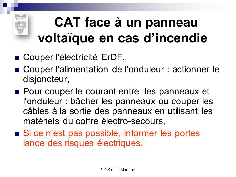 CAT face à un panneau voltaïque en cas d'incendie