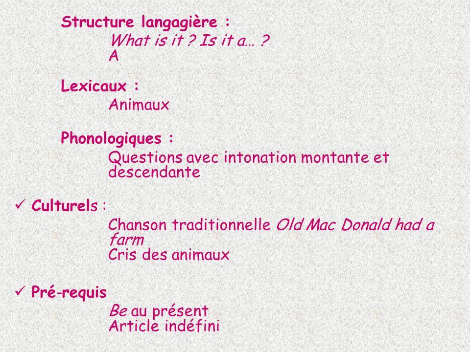 Structure langagière :