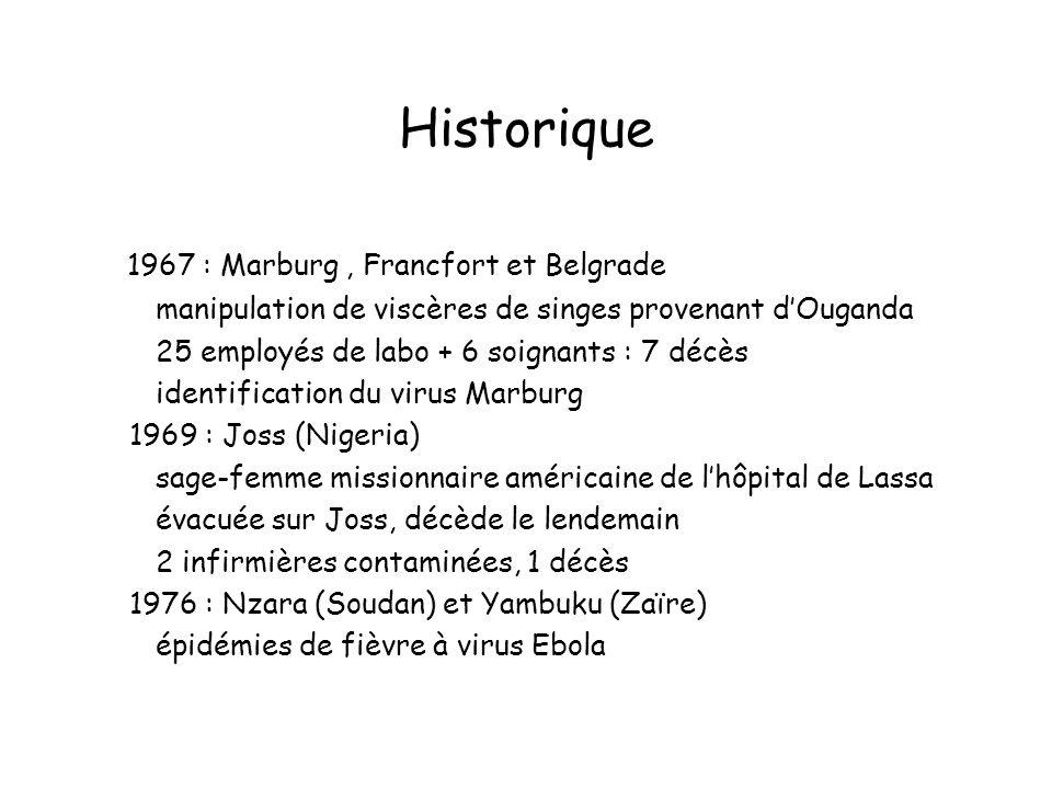 Historique 1967 : Marburg , Francfort et Belgrade