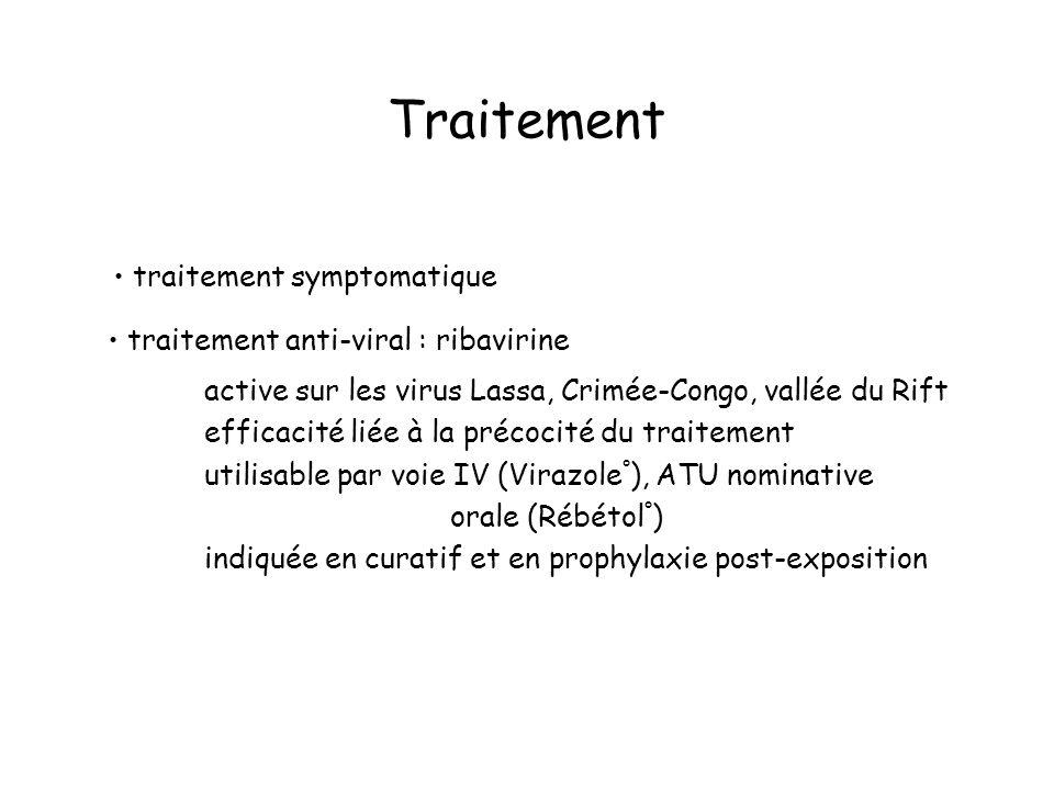 Traitement • traitement symptomatique