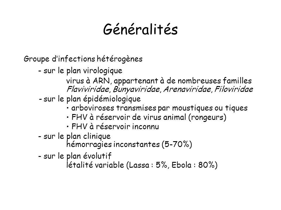 Généralités Groupe d'infections hétérogènes - sur le plan virologique