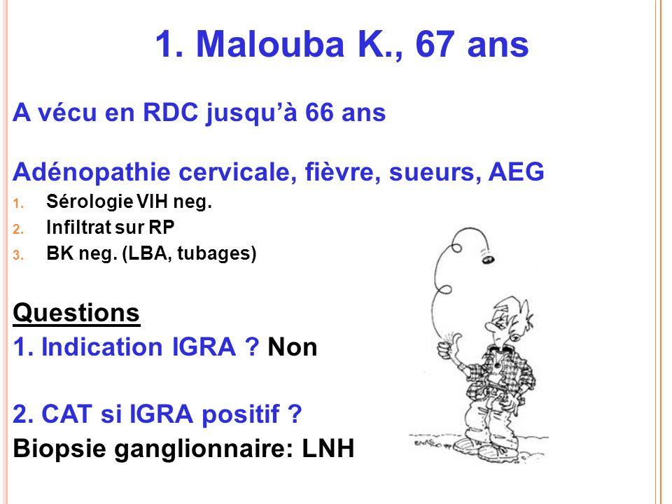1. Malouba K., 67 ans A vécu en RDC jusqu'à 66 ans