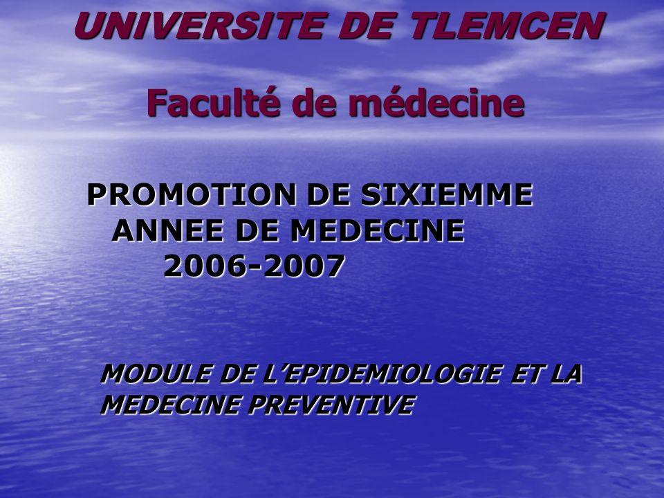PROMOTION DE SIXIEMME ANNEE DE MEDECINE 2006-2007