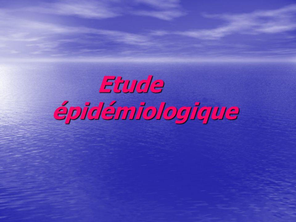Etude épidémiologique