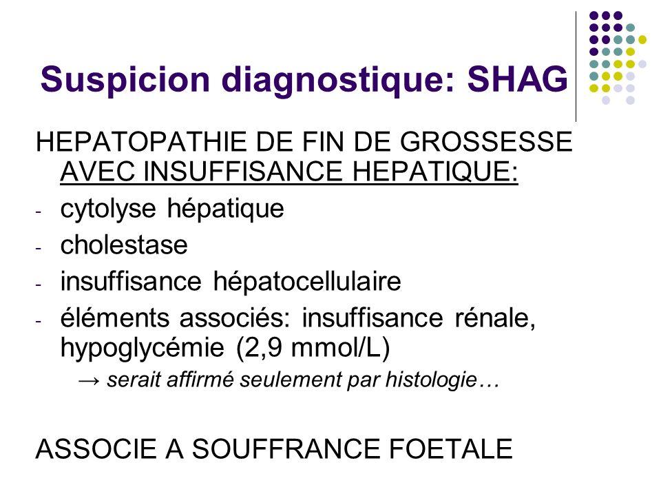 Suspicion diagnostique: SHAG