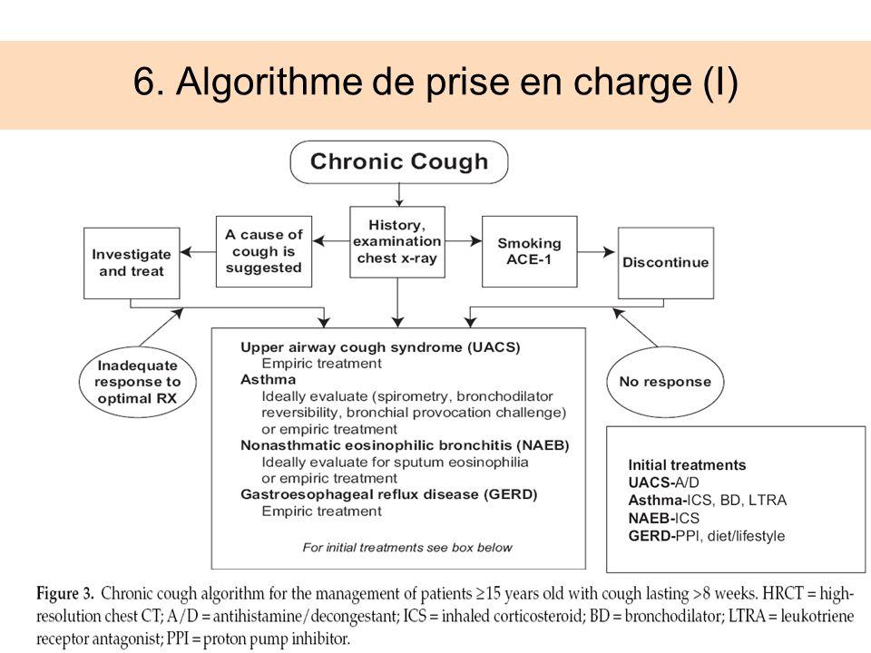 6. Algorithme de prise en charge (I)