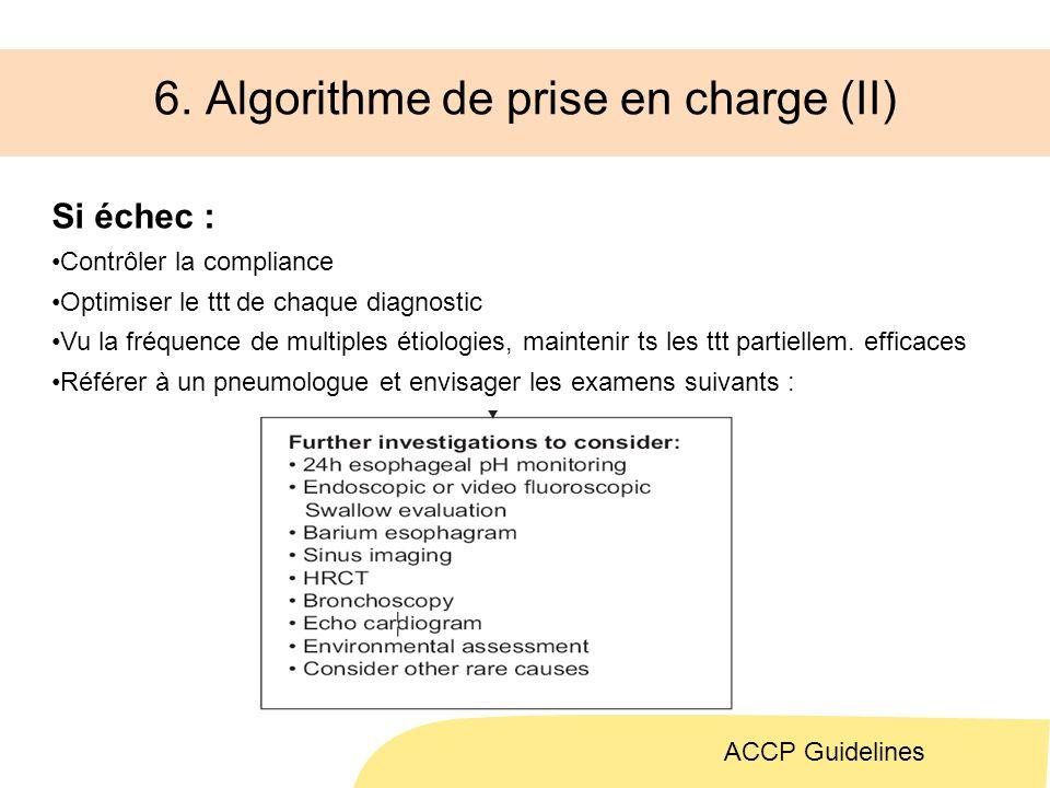 6. Algorithme de prise en charge (II)