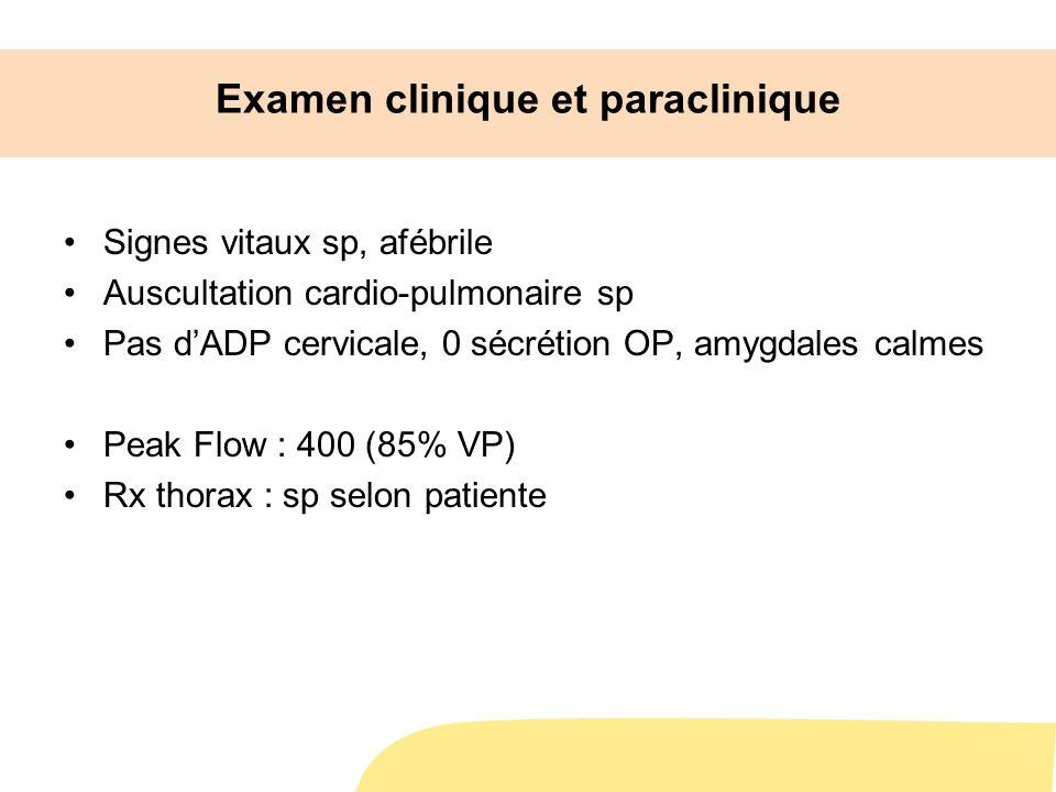 Examen clinique et paraclinique