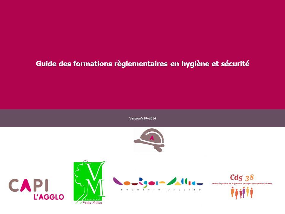 Guide des formations règlementaires en hygiène et sécurité