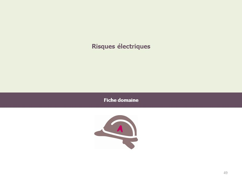 Risques électriques Fiche domaine