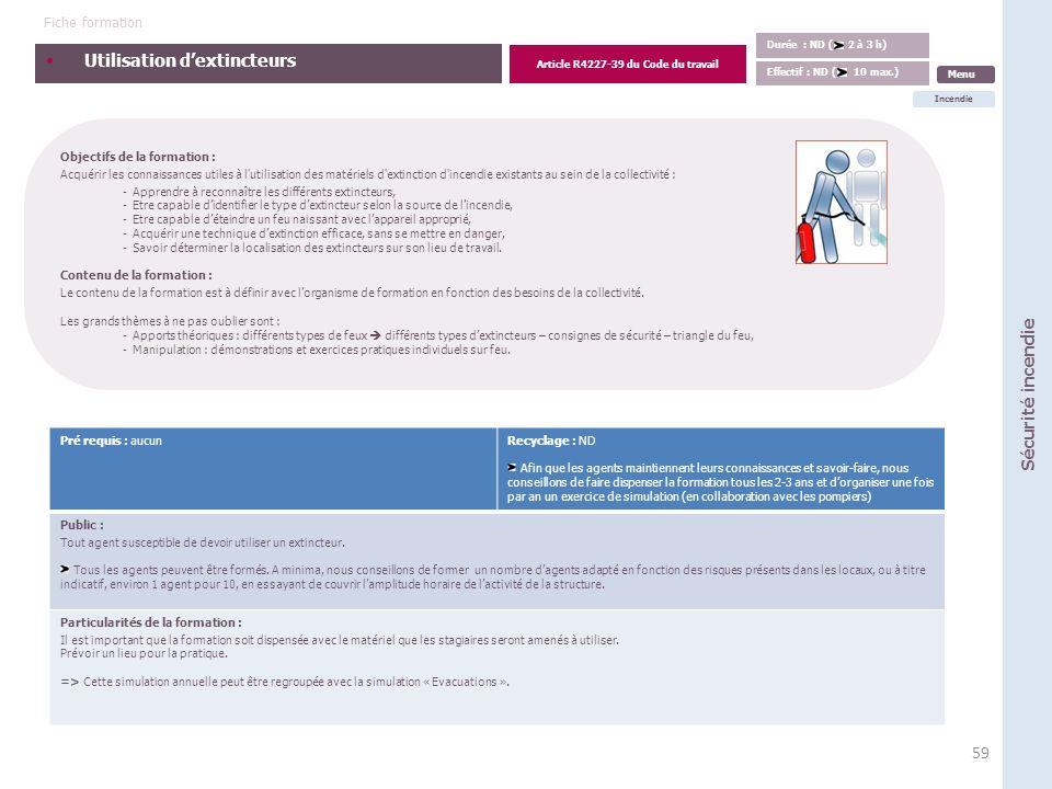 Guide des formations règlementaires en hygiène et sécurité ...