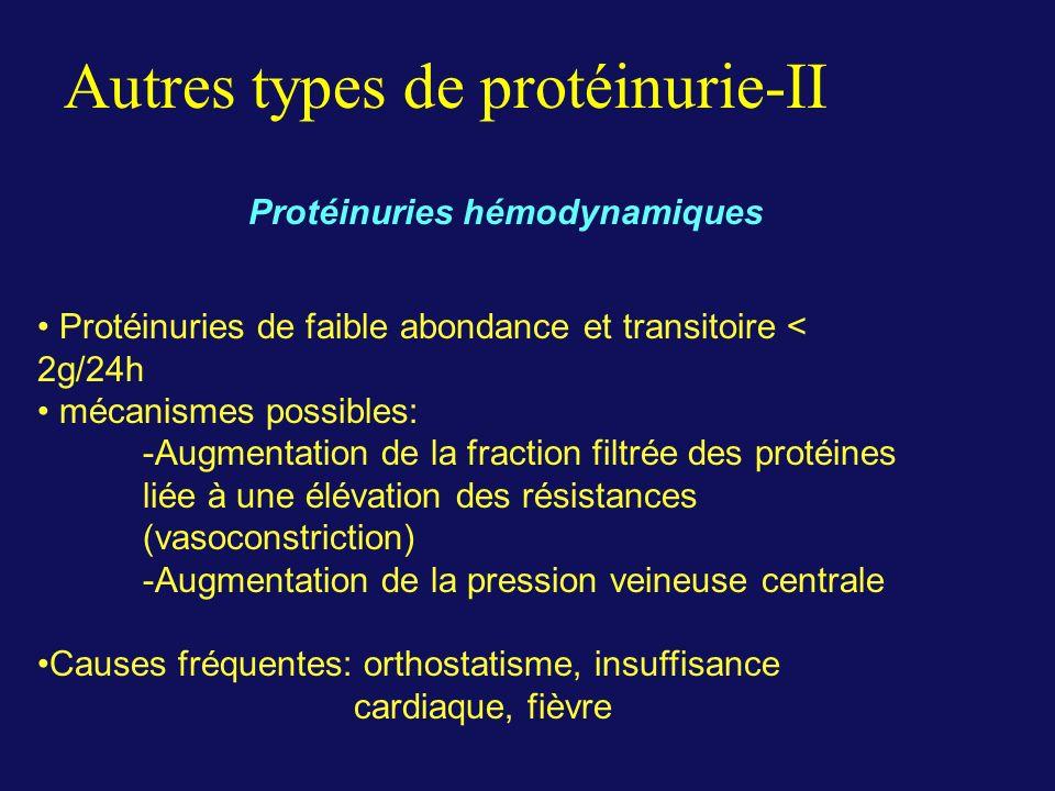 Autres types de protéinurie-II