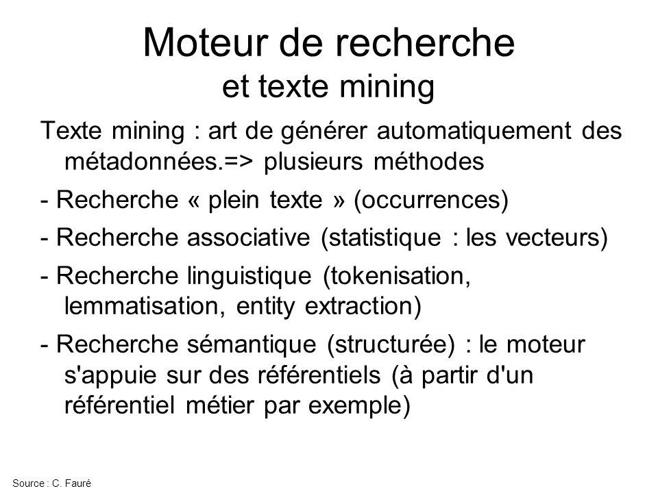 Moteur de recherche et texte mining