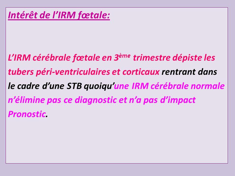 Intérêt de l'IRM fœtale: