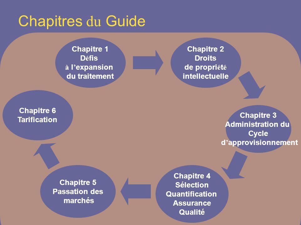 Chapitres du Guide Chapitre 1 Défis à l'expansion du traitement