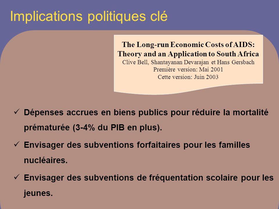Implications politiques clé