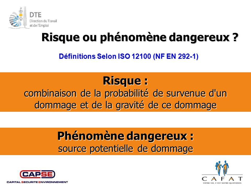 Risque ou phénomène dangereux Risque : Phénomène dangereux :
