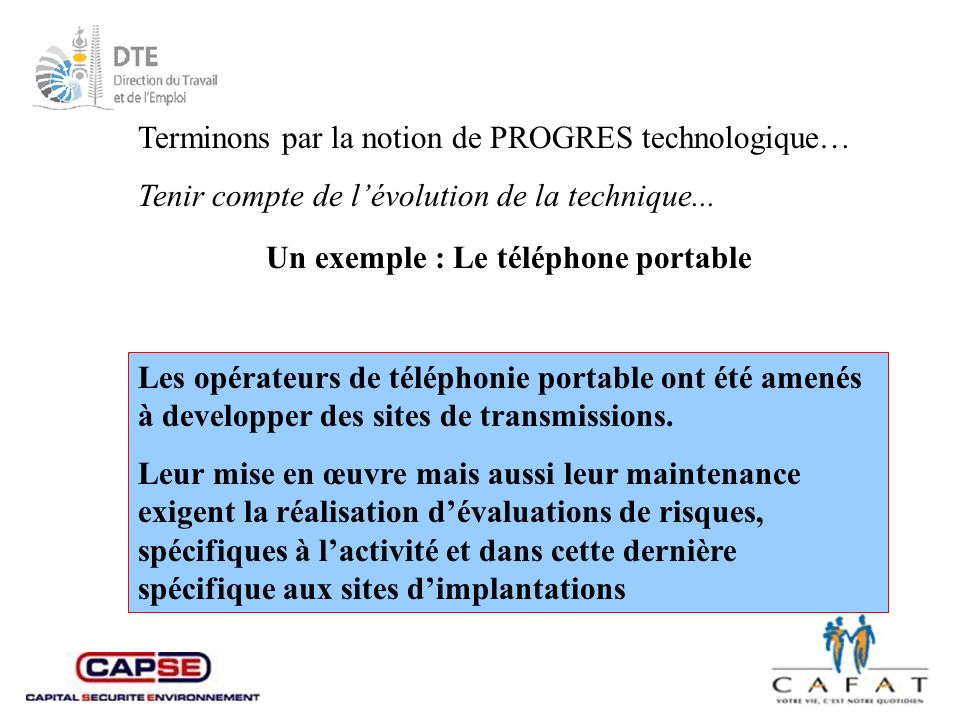 Terminons par la notion de PROGRES technologique…