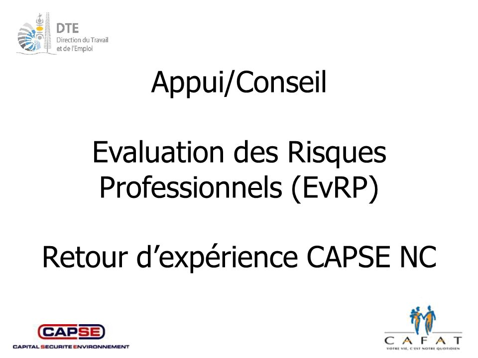 Evaluation des Risques Professionnels (EvRP)