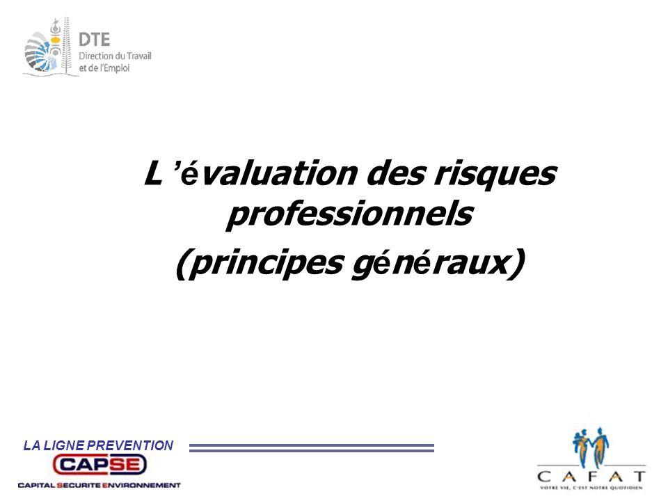 L 'évaluation des risques professionnels (principes généraux)