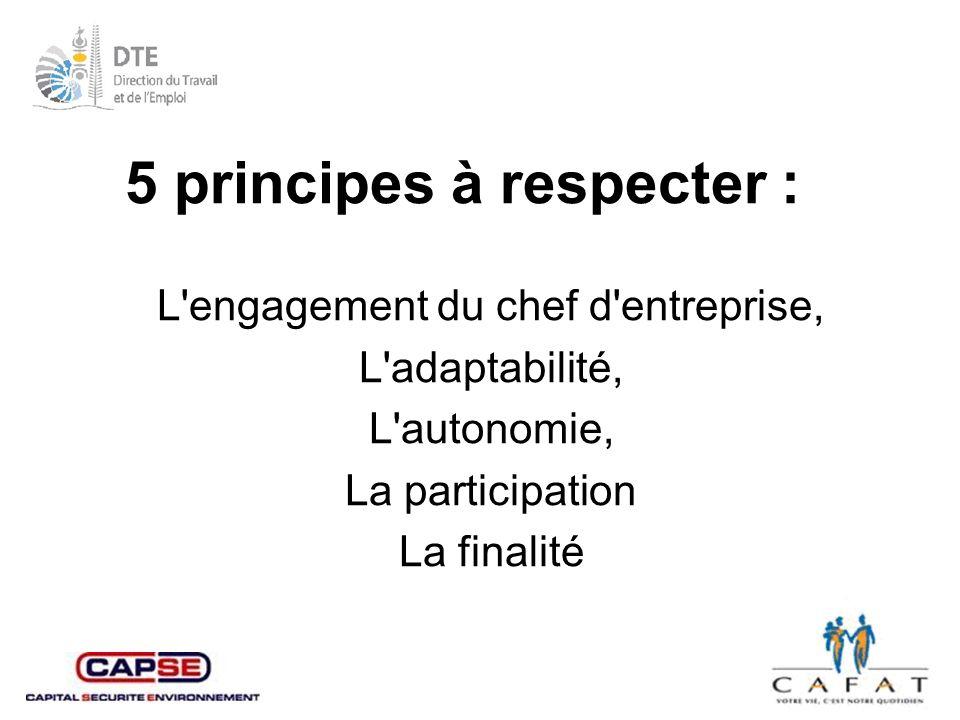 5 principes à respecter :