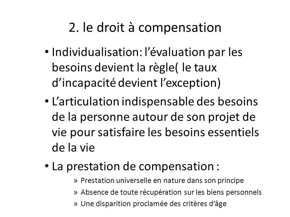 2. le droit à compensation