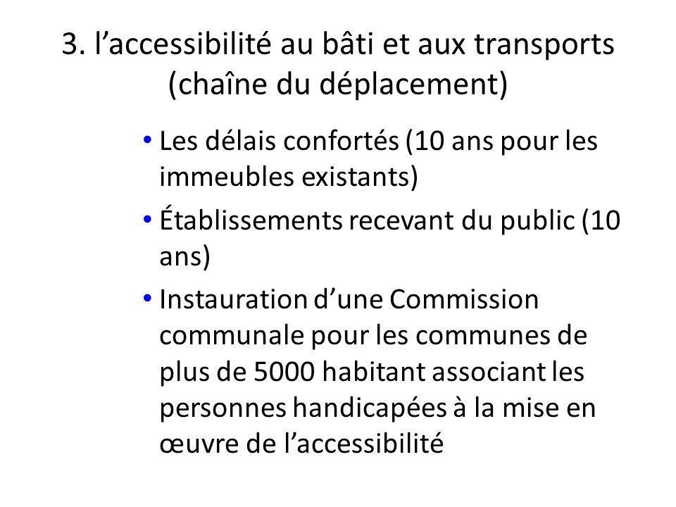 3. l'accessibilité au bâti et aux transports (chaîne du déplacement)