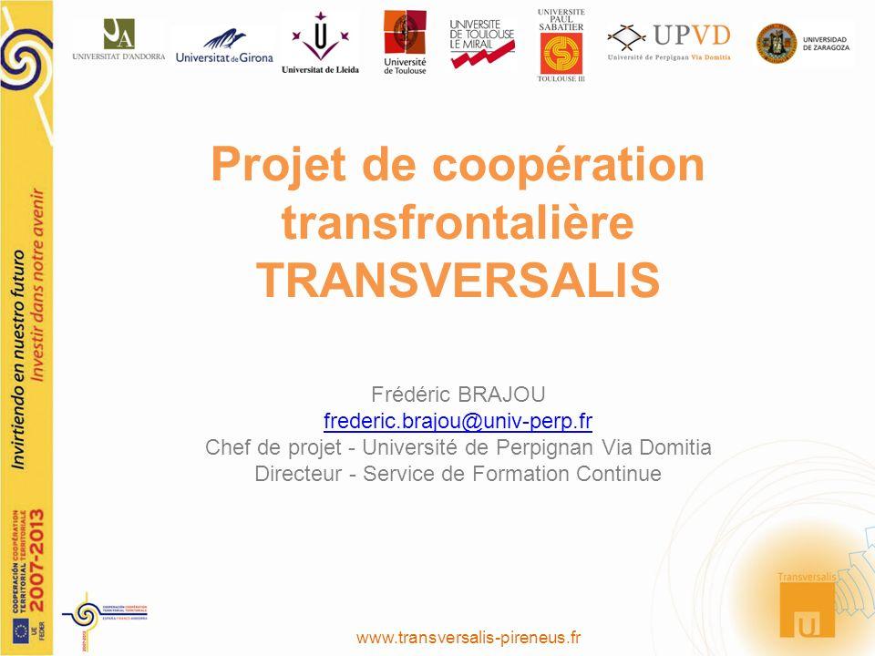 Projet de coopération transfrontalière TRANSVERSALIS