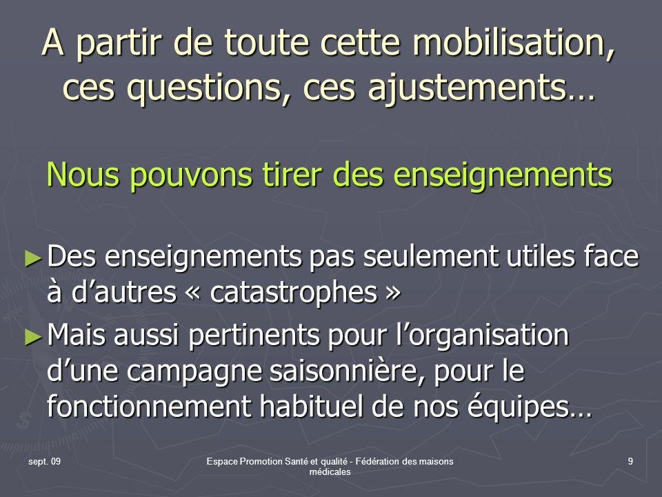 Espace Promotion Santé et qualité - Fédération des maisons médicales