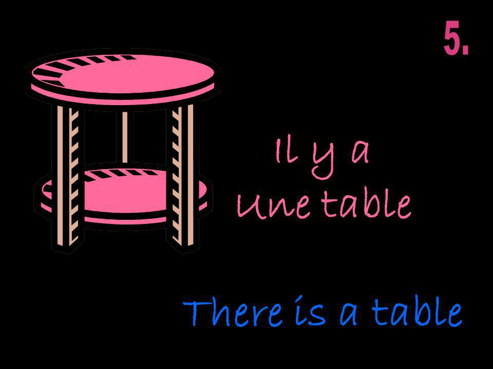 Il y a Une table There is a table