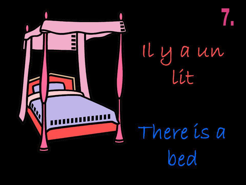 Il y a un lit There is a bed
