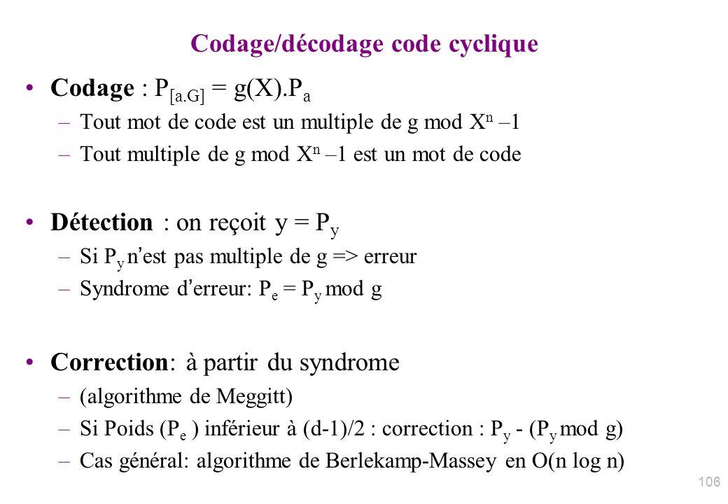 Codage/décodage code cyclique