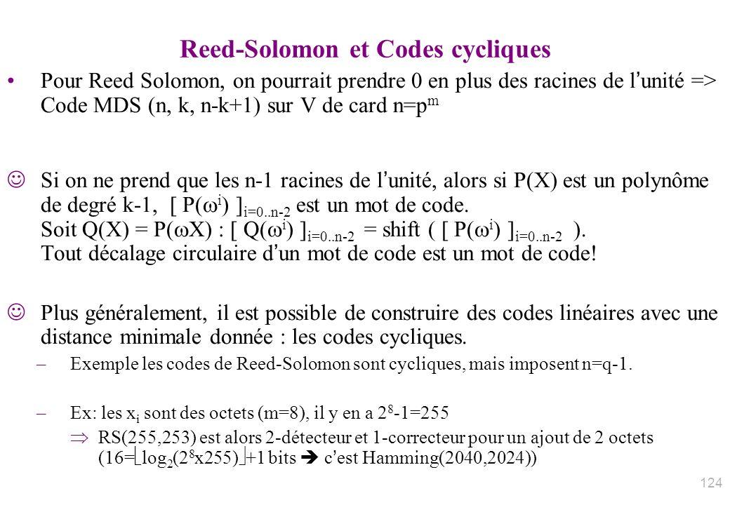 Reed-Solomon et Codes cycliques