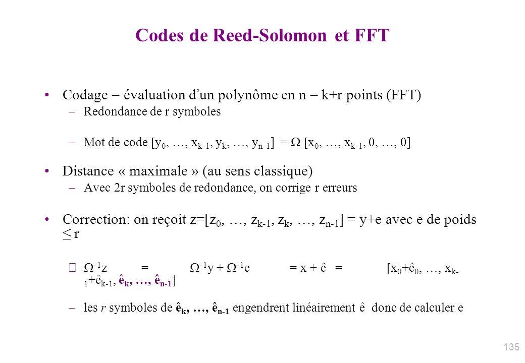 Codes de Reed-Solomon et FFT