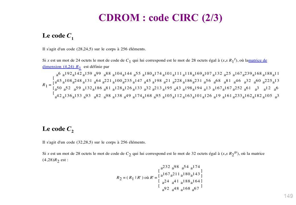CDROM : code CIRC (2/3)