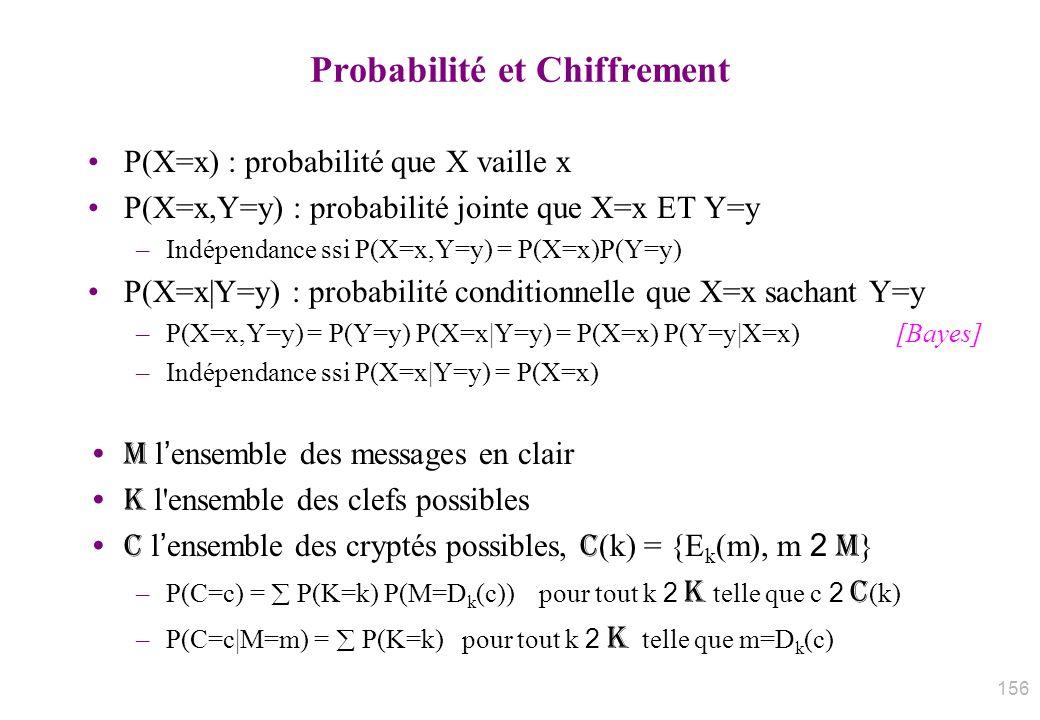 Probabilité et Chiffrement