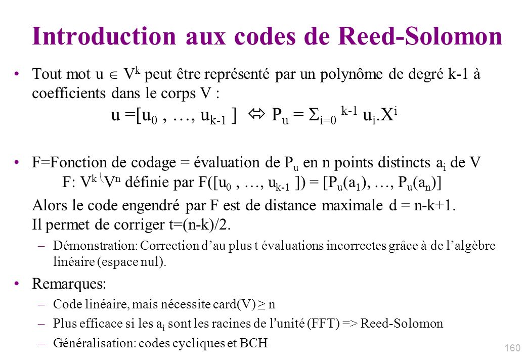 Introduction aux codes de Reed-Solomon