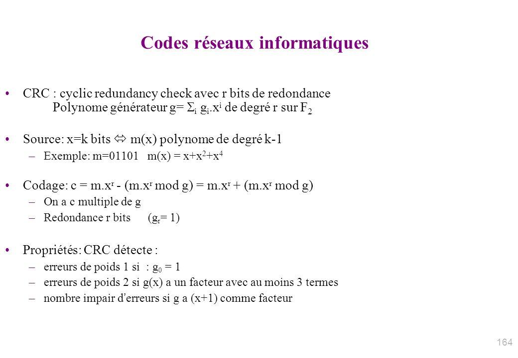 Codes réseaux informatiques