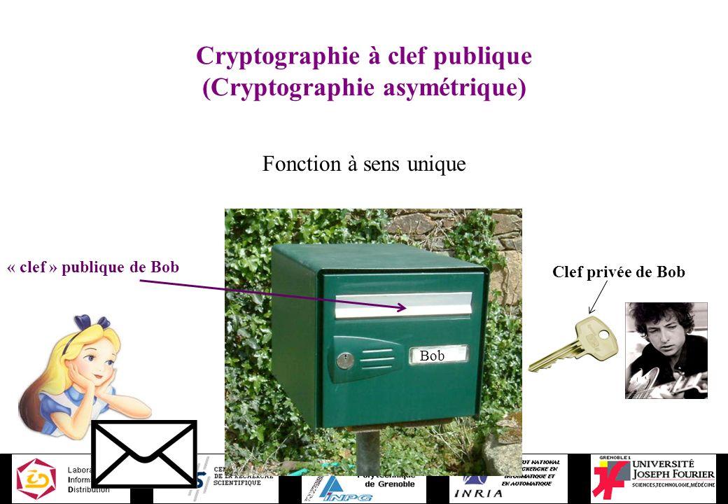 Cryptographie à clef publique (Cryptographie asymétrique)
