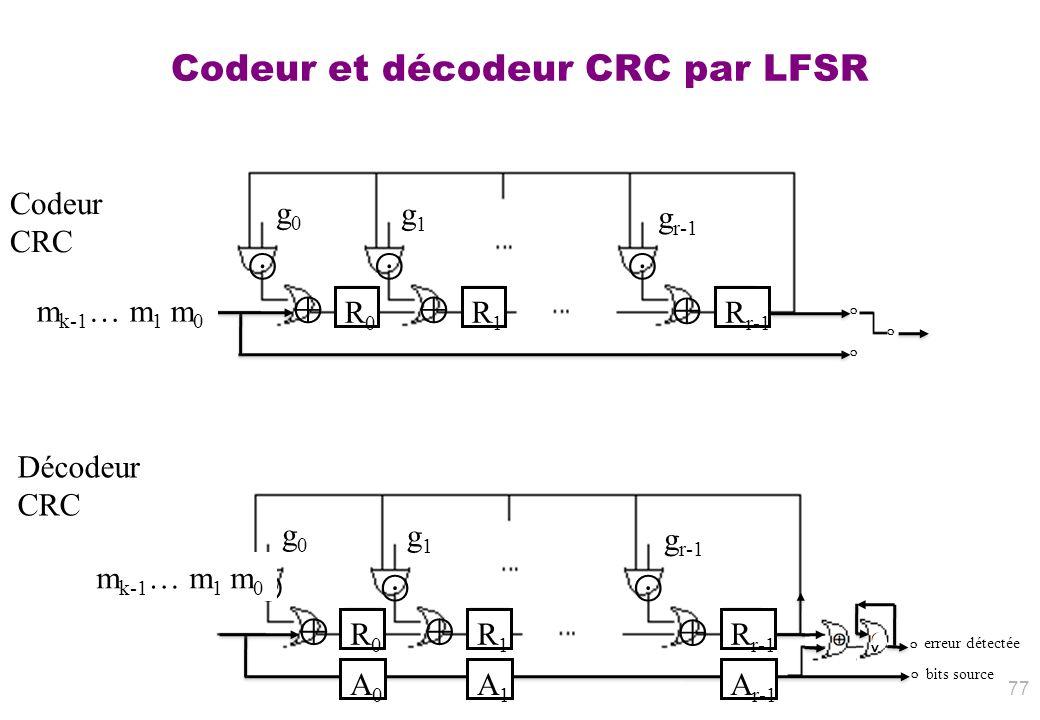 Codeur et décodeur CRC par LFSR